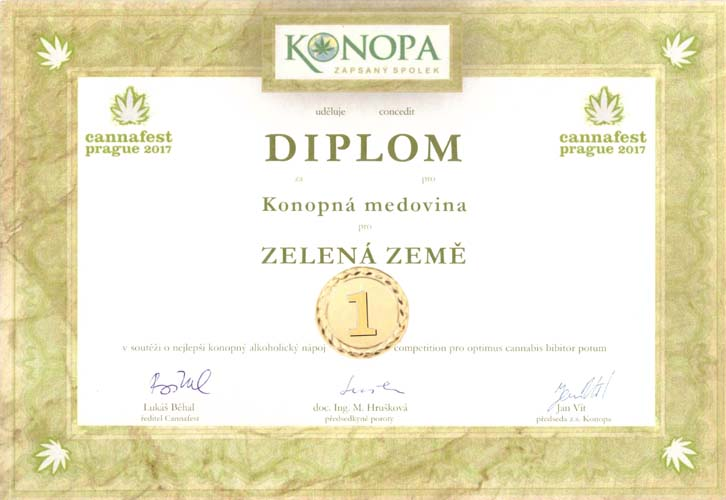 2017 1misto Konopna Medovina