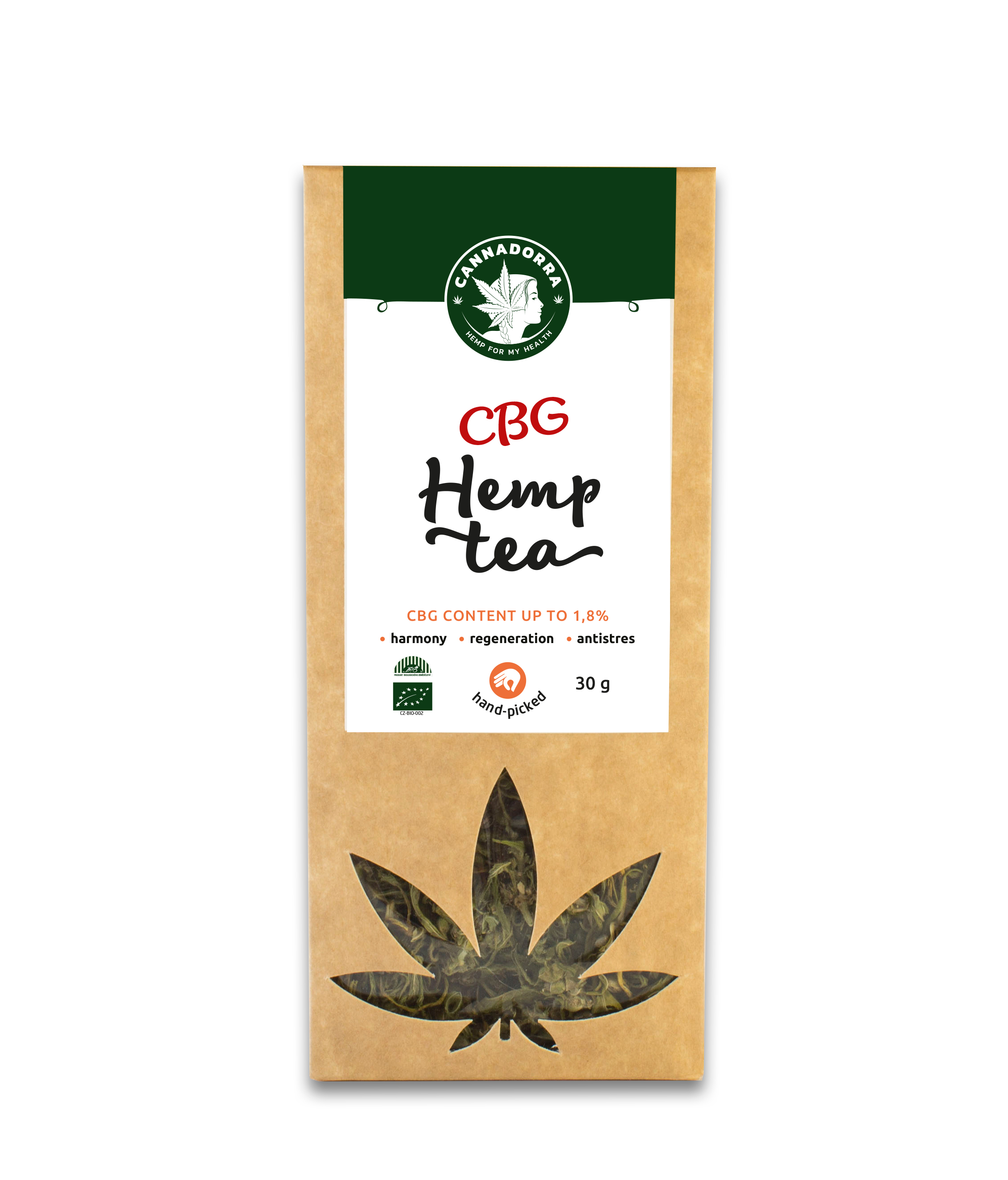 CBG hemp tea 1,8%, 30g | E-Shop - Cannadorra